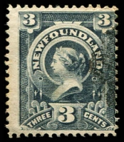 Lot 25748 [1 of 2]:1890 3c SG #55-6 deep slate & slate-grey (2)