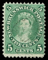 Lot 4030:1860-63 Definitives SG #15 5c deep green, Cat £18.