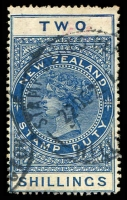 Lot 26631:1882-1930 Cowan Paper Wmk NZ/Crown Perf 14½x14 2/- deep blue, F111