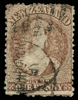 Lot 4052:1871-73 Chalon New Colours Wmk Large Star Perf 12½ SG #132a 1d brown (worn plate), small faults Cat £42.