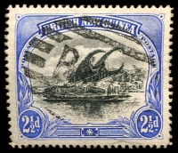 Lot 4063:1901-05 British New Guinea Wmk Horizontal SG #4 2½d black & ultramarine, Cat £10.