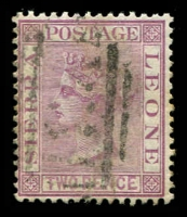 Lot 4355:1876 QV Wmk Crown/CC Perf 14 SG #19 2d magenta