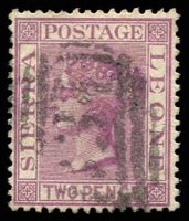 Lot 24213:1883 Wmk Crown/CA SG #25, 2d magenta.
