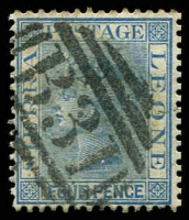 Lot 4356:1883 Wmk Crown/CA SG #26 4d blue, Cat £28.