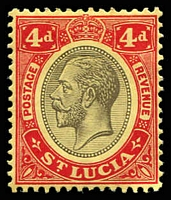 Lot 27805 [1 of 6]:1912-21 KGV Wmk Mult Crown/CA SG #83-5,87-8 4d to 5/-, excl 1/- orange-brown, Cat £60. (5)