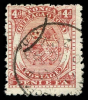 Lot 28841:1892 SG #12, 4d chestnut, Cat £75