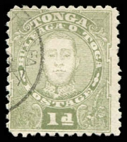 Lot 4431:1895 King George II SG #32 1d olive-green, Cat £30.