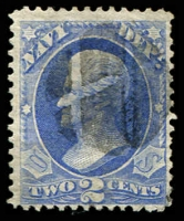 Lot 4730:1873 Navy: Sc #O36 2c ultramarine, Cat $25.