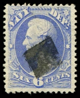 Lot 4732:1873 Navy: Sc #O38 12c ultramarine, Cat $25.