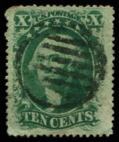 Lot 4700:1857-61 Perf 15-15½ Sc #35 10c green Type V, Cat $55.