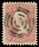 Lot 29172 [2 of 2]:1861-62 Amended Design Perf 12 Sc #65 3c rose x2 shades, Cat $6 (2)