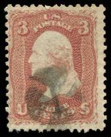Lot 29172 [1 of 2]:1861-62 Amended Design Perf 12 Sc #65 3c rose x2 shades, Cat $6 (2)