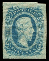 Lot 4772:1863-64 Jefferson Davis Sc #11 10c blue, 4-margins,