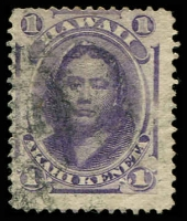 Lot 26411:1864-86 Portraits Sc #30b 1c violet, Cat $10.