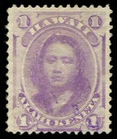 Lot 26410:1864-86 Portraits Sc #30 1c purple.