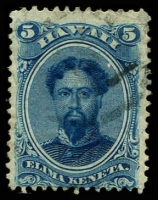 Lot 26412:1864-86 Portraits Sc #32 5c blue, Cat $30.