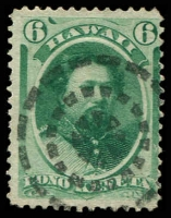 Lot 4783:1864-86 Portraits Sc #33a 6c blue-green, Cat $10.