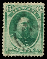 Lot 4497:1864-86 Portraits Sc #33a 6c blue-green, Cat $10.