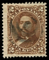 Lot 26414:1875 Portraits Sc #35 2c brown, Cat $3.