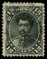 Lot 26416:1875 Portraits Sc #36 12c black, Cat $32.50.