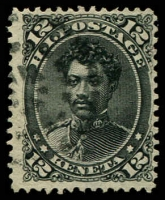 Lot 26415:1875 Portraits Sc #36 12c black, Cat $32.50.
