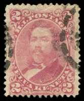 Lot 26418:1882 Portraits Sc #38 2c rise-lilac, Cat $47.50.