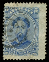 Lot 4498:1882 Portraits Sc #39 5c blue