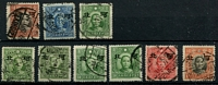 Lot 3321 [3 of 4]:1941 Large Hopeh Opts 1931-37 Sun Yat-sen 2c x3, 4c, 15c x2, 20c, 25c; 1938-41 Sun Yat-sen Chung Hwa 3c, 5c x2, 8c (C) x3, $1; 1938-41 Sun Yat-sen Dah Tung No Wmk 5c, 8c, 10c x2, 30c, $1; 1938-41 Sun Yat-sen Dah Tung Wmk 10c, 50c; 1932-34 Martyrs Peking ½c x2, 2½c, 13c; 1939-41 Martyrs Hong Kong No Wmk ½c, 3c, 4c, 8c x3, 13c, 20c, 21c, 28c; 1939-41 Martyrs Hong Kong Wmk ½c, 1c x4, 2c, 20c, 40c. Mixed thick and thin papers, odd mint. (50)