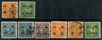 Lot 3329 [1 of 2]:1942 Hwa Pei Opts Martyr Issues SG #111-27 range Hong Kong No Wmk ½c on 1c x2 (mint x1), 2c on 4c x2 (mint x1), 4c on 8c x2 (mint x1), 5c on 10c x3 (mint x2), 10c on 20c x3 (mint x2), 20c 0n 40c & 25c on 50c; Hong Kong Wmk 1c on 2c x2 (mint x1), 5c on 10c, 20c on 40c x2 (mint x1), 25c on 50c mint, Cat £55. (20)