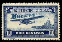 Lot 3683:1933 Air SG #331s 10c blue, handstamped 'MUESTRA'.
