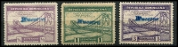 Lot 3684:1934 Bridge SG #332s-4s ½c, 1c & 3c, handstamped 'MUESTRA', faults. (3)