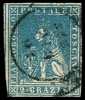 Lot 21959:1857 On White Paper SG #28 2c blue, 4 close/touching margins, Cat £140.