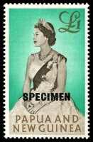 Lot 4309:1963 Pictorials £1 optd 'SPECIMEN' 15½mm, marginal.