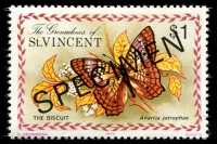 Lot 4390 [1 of 5]:1975 Butterflies SG #61s-5s complete set, with 'SPECIMEN' ovpt. (5)