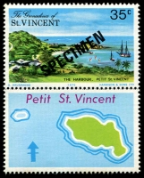 Lot 4391 [3 of 4]:1975 Petit St Vincent SG #66s-9s complete set, with 'SPECIMEN' ovpt. (4)