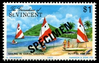 Lot 4391 [1 of 4]:1975 Petit St Vincent SG #66s-9s complete set, with 'SPECIMEN' ovpt. (4)
