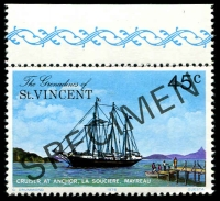 Lot 4396 [2 of 4]:1976 Mayreau Island SG #89s-91s complete set, with 'SPECIMEN' ovpt. (4)
