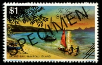 Lot 4396 [1 of 4]:1976 Mayreau Island SG #89s-91s complete set, with 'SPECIMEN' ovpt. (4)