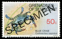 Lot 4397 [2 of 4]:1977 Crustaceans SG #96s-9s complete set, with 'SPECIMEN' ovpt. (4)