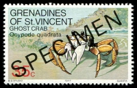 Lot 4397 [3 of 4]:1977 Crustaceans SG #96s-9s complete set, with 'SPECIMEN' ovpt. (4)