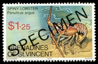 Lot 4397 [1 of 4]:1977 Crustaceans SG #96s-9s complete set, with 'SPECIMEN' ovpt. (4)