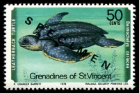 Lot 4398 [2 of 4]:1979 Turtles SG #135s-8s complete set, with 'SPECIMEN' ovpt. (4)