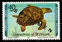 Lot 4398 [3 of 4]:1979 Turtles SG #135s-8s complete set, with 'SPECIMEN' ovpt. (4)