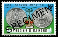 Lot 4336 [3 of 3]:1977 Silver Jubilee SG #93s-5s complete set, with 'SPECIMEN' ovpt. (3)