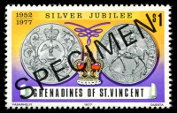 Lot 4336 [1 of 3]:1977 Silver Jubilee SG #93s-5s complete set, with 'SPECIMEN' ovpt. (3)