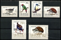 Lot 4491 [1 of 2]:1983 Birds SG #27s-41s set optd 'SPECIMEN'. (15)