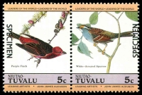 Lot 4513 [4 of 4]:1985 Birds SG #29s-36s set of 8 in se-tenant pairs, optd 'SPECIMEN'. (8)