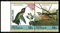 Lot 29121 [3 of 4]:1985 Birds SG #29s-36s set of 8 in se-tenant pairs, optd 'SPECIMEN'. (8)