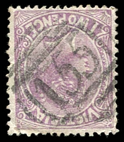 Lot 2120:155: 1st type on 2d violet.  Allocated to Sebastopol-PO 5/10/1857; LPO 28/9/1993.