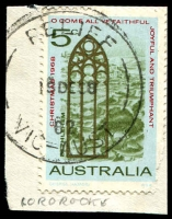 Lot 2829:Cororooke: - WWW # 'RELIEF/18DE68/82/VIC-AUST' on 5c Xmas. [Used 27/11/68-6/1/69]  PO 14/2/1887; LPO 9/9/1993.